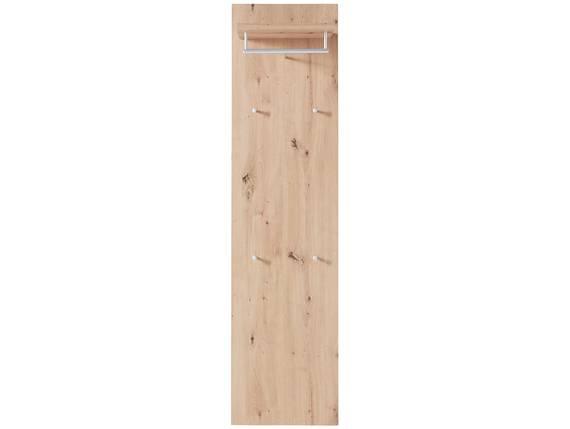 TEMIDO Garderobenpaneel breit, Material Dekorspanplatte eichefarbig DETAIL_IMAGE