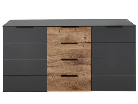 MOSANTA Sideboard, Material MDF, eichefarbig /graphitfarbig  DETAIL_IMAGE