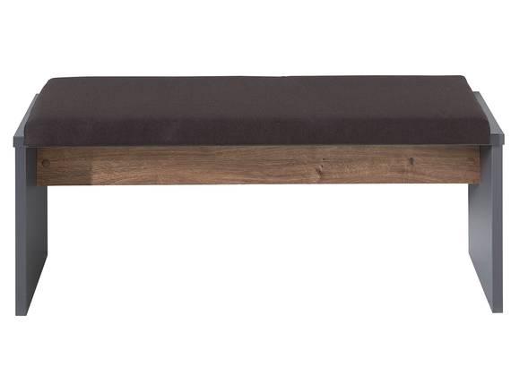 MOSANTA Bank mit Sitzkissen, Material Dekorspanplatte, eichefarbig/graphitfarbig  DETAIL_IMAGE