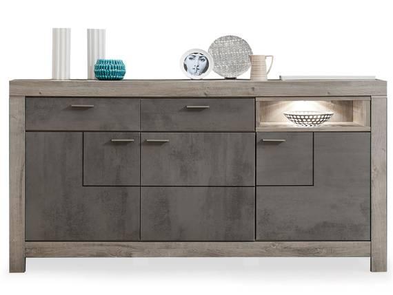 GOLONA Sideboard II, Material MDF, haveleichefarbig/betonfarbig  DETAIL_IMAGE