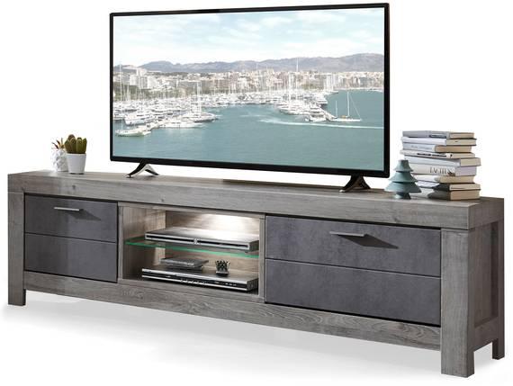 GOLONA TV-Unterteil II, Material MDF, haveleichefarbig/betonfarbig  DETAIL_IMAGE