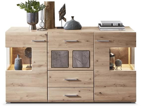 SILVANO Sideboard, Material MDF, Artisan eichefarbig  DETAIL_IMAGE