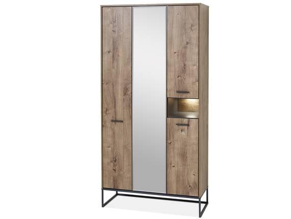 MILTON Garderobenschrank groß, Material MDF, eichefarbig  DETAIL_IMAGE