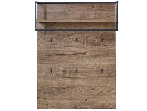 MILTON Garderobenpaneel, Material Dekorspanplatte, eichefarbig  DETAIL_IMAGE