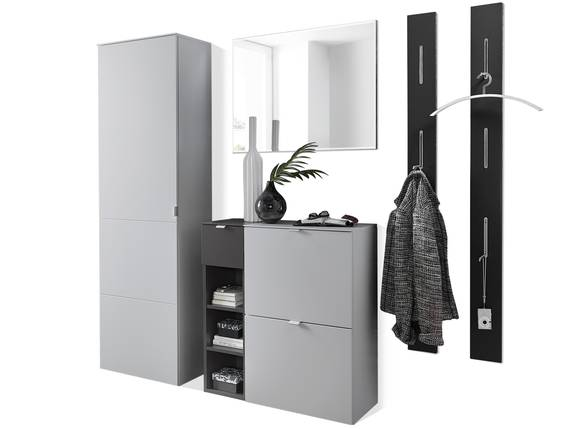 TEMIDO Garderobenset I, Material MDF, grau/anthrazit  DETAIL_IMAGE