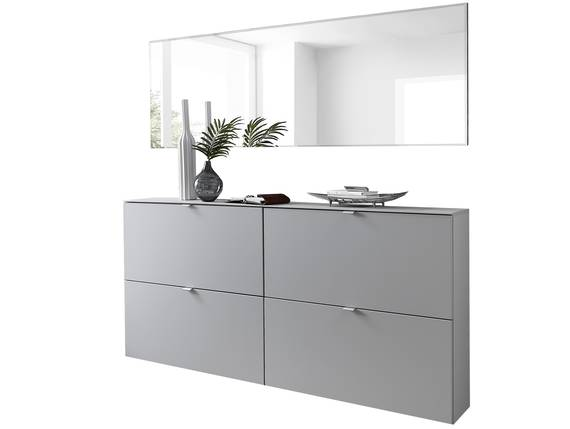 TEMIDO Garderobenset, Material MDF,  grau ohne Fußsets DETAIL_IMAGE