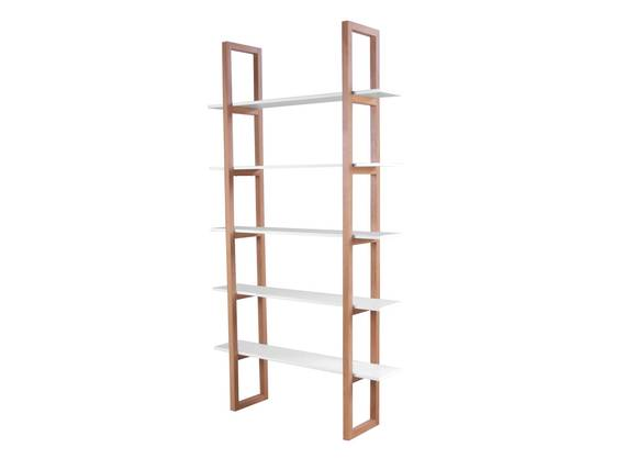 STIAN Bücherregal, Material Massivholz/MDF Eiche/weiss  DETAIL_IMAGE