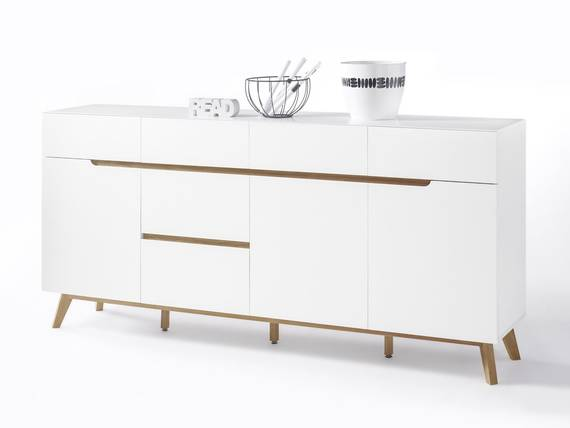 cava ii sideboard matt wei eichefarbig. Black Bedroom Furniture Sets. Home Design Ideas