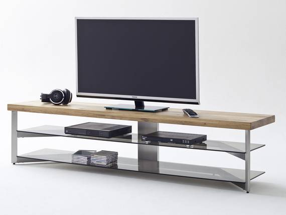 frieda tv lowboard eiche glas grau 160 cm. Black Bedroom Furniture Sets. Home Design Ideas