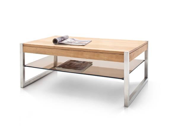 MANUEL Couchtisch, Material Massivholz/Metall, Eiche geölt 105 x 65 cm DETAIL_IMAGE