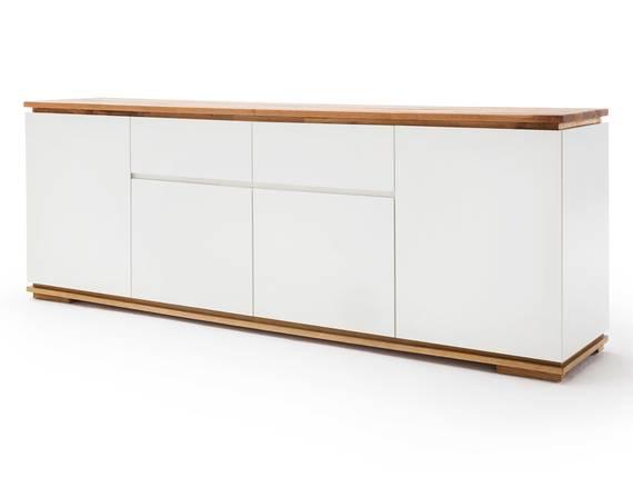 CITTO Sideboard II mit 4 Türen + 2 Schubkästen, Material Massivholz/MDF, Asteiche geölt weiss/Asteiche DETAIL_IMAGE