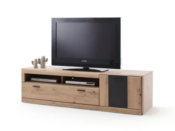 CALISTRO TV-Element II, Material MDF, balkeneichefarbig/anthrazit Sockelfuß DETAIL_IMAGE
