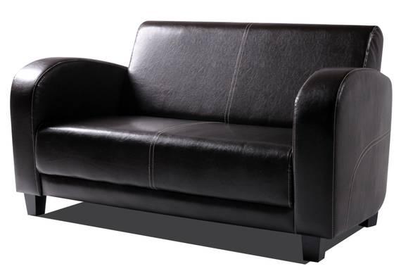 ANTO Sofa 2-Sitzer Antikbraun, Füsse nussbaumfarben  DETAIL_IMAGE