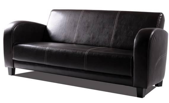 ANTO Sofa 3-Sitzer Antikbraun, Füsse nussbaumfarben  DETAIL_IMAGE