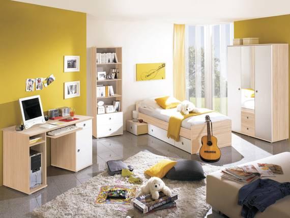 tina jugendzimmer sonoma eiche wei mit dreht rensch. Black Bedroom Furniture Sets. Home Design Ideas