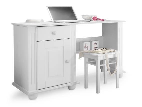 LORELEI Schreibtisch,  Material Massivholz, Kiefer weiss  DETAIL_IMAGE