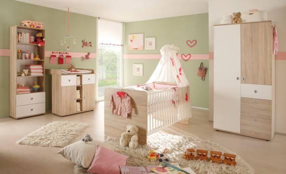 TINA Babyzimmer, Material Dekorspanplatte, Eiche sonomafarbig/weiss  DETAIL_IMAGE