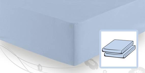 Schlafgut ELASTIC-JERSEY Boxspringbetttuch/Boxspringbettlaken 140/160x200/220 aqua DETAIL_IMAGE