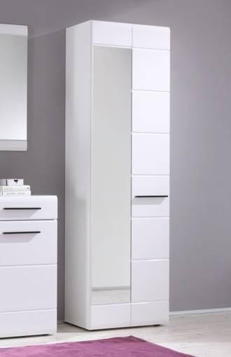 DEON Dielenschrank / Schrank 2-türig mit Spiegel, Material Dekorspanplatte, weiss  DETAIL_IMAGE