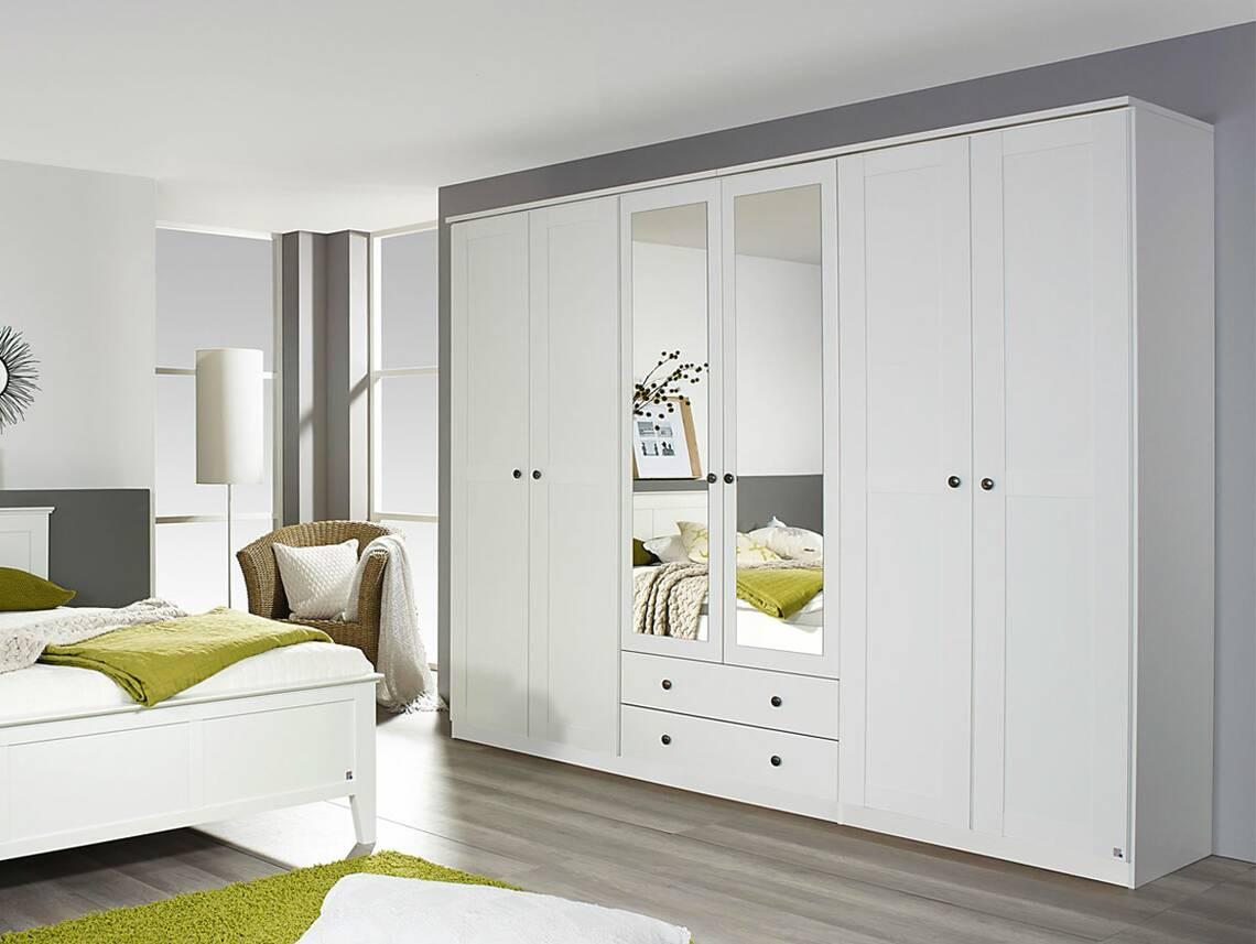 rimini dreht renschrank 6trg mit spiegel alpinwei. Black Bedroom Furniture Sets. Home Design Ideas