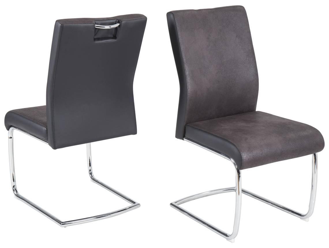 josef freischwinger microfaser lederlook dunkelgrau. Black Bedroom Furniture Sets. Home Design Ideas