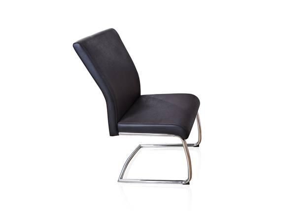 JOSEF Freischwinger, Sitz mit Gurtunterfederung, Material Microfaser/Metall dunkelgrau DETAIL_IMAGE