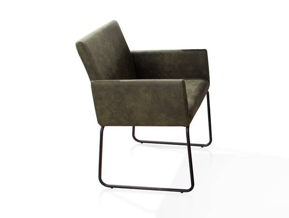 NARA Armlehnenstuhl / Sessel, Material Stoff/Metall, dunkelgrün/schwarz  DETAIL_IMAGE