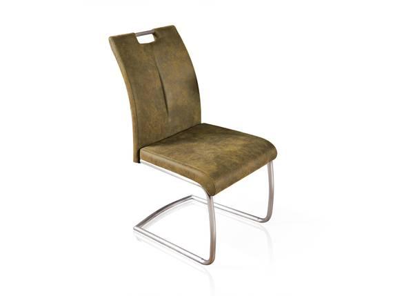 SPICKY Schwingstuhl, Sitz mit Gurtunterfederung, Material Kunstfaser/Metall olivgrün DETAIL_IMAGE