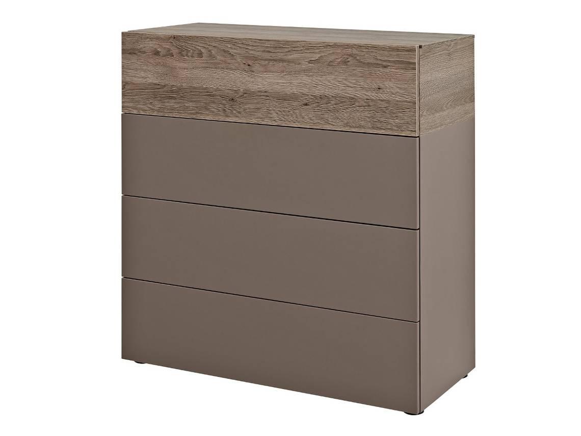 arte m beam k kommode 4 schubk sten cubanit eiche dunkel 75 cm. Black Bedroom Furniture Sets. Home Design Ideas