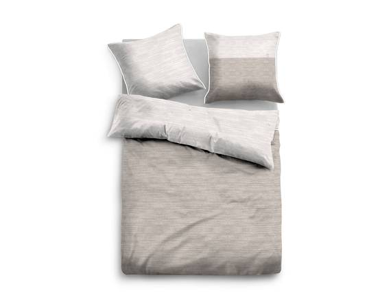 tom tailor bettw sche melange satin beige 135x200 80x80. Black Bedroom Furniture Sets. Home Design Ideas