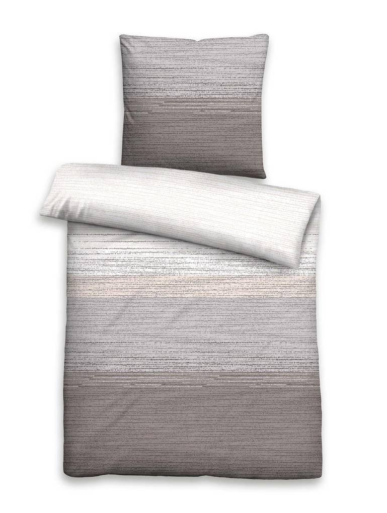 biberna biber komfort bettw sche 135x200 80x80 grau. Black Bedroom Furniture Sets. Home Design Ideas