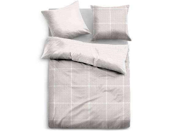 TOM TAILOR Bettwäsche Satin Bed Linen 135x200 cm beige/weiss  DETAIL_IMAGE