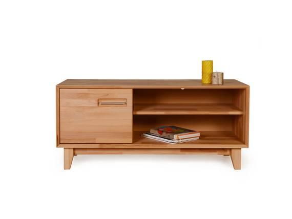 nepal ii tv lowboard massivholz ge lt 120 x 45 cm kernbuche. Black Bedroom Furniture Sets. Home Design Ideas