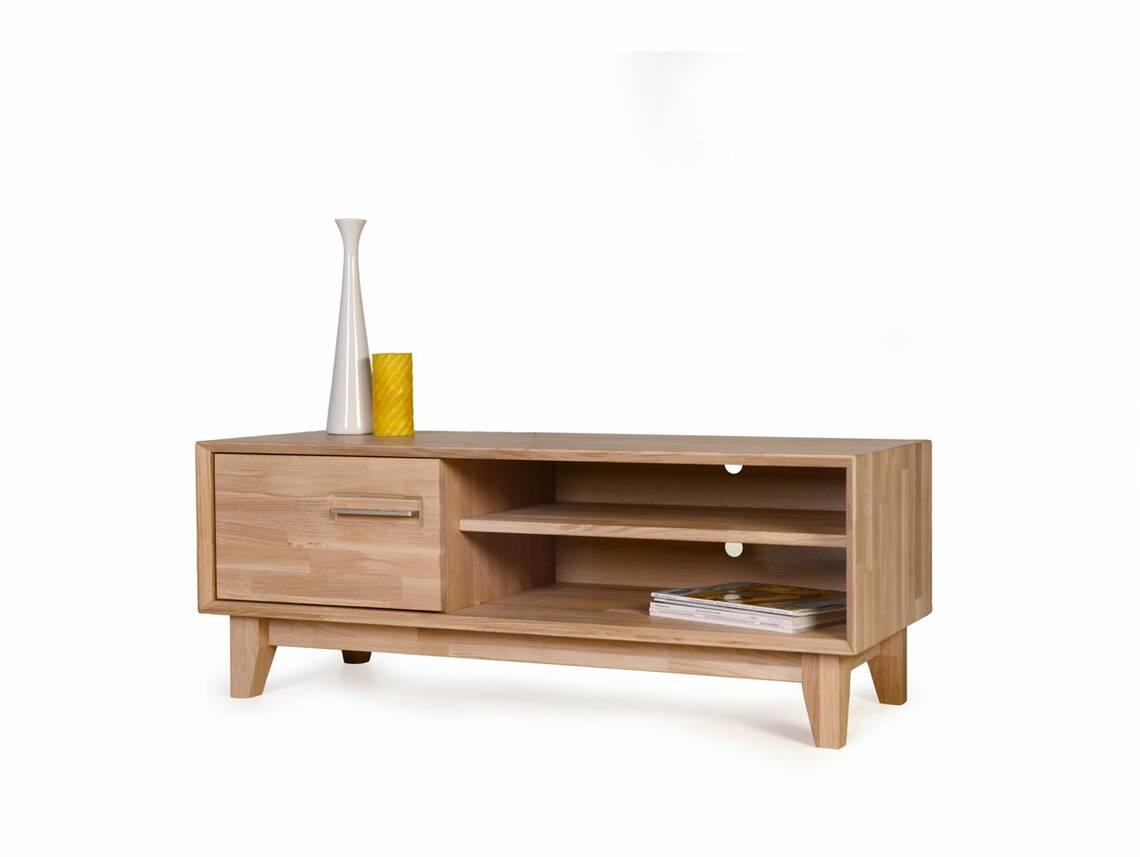 nepal ii tv lowboard massivholz ge lt 120 x 45 cm eiche. Black Bedroom Furniture Sets. Home Design Ideas