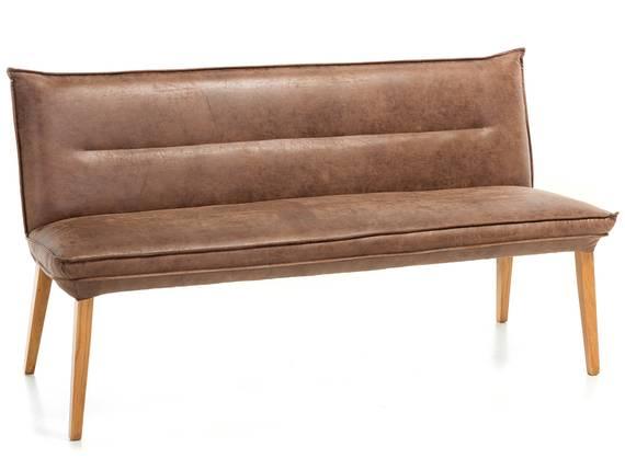 GRADY Sitzbank, Gestell Massivholz/Stoffbezug Eiche | 159 cm | Mikrofaser braun DETAIL_IMAGE