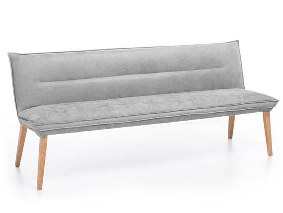 GRADY Sitzbank, Gestell Massivholz/Stoffbezug Eiche | 159 cm | Webstoff grau DETAIL_IMAGE