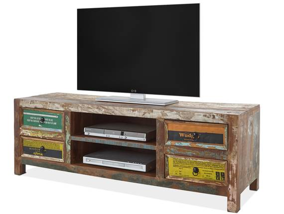 BELKA TV-Lowboard, Material Massivholz, mehrfarbiges Antik-Finish  DETAIL_IMAGE