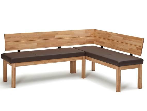 RENALDO Eckbank, Material Massivholz, Kernbuche geölt 194 x 155 cm | Kunstleder dunkelbraun DETAIL_IMAGE
