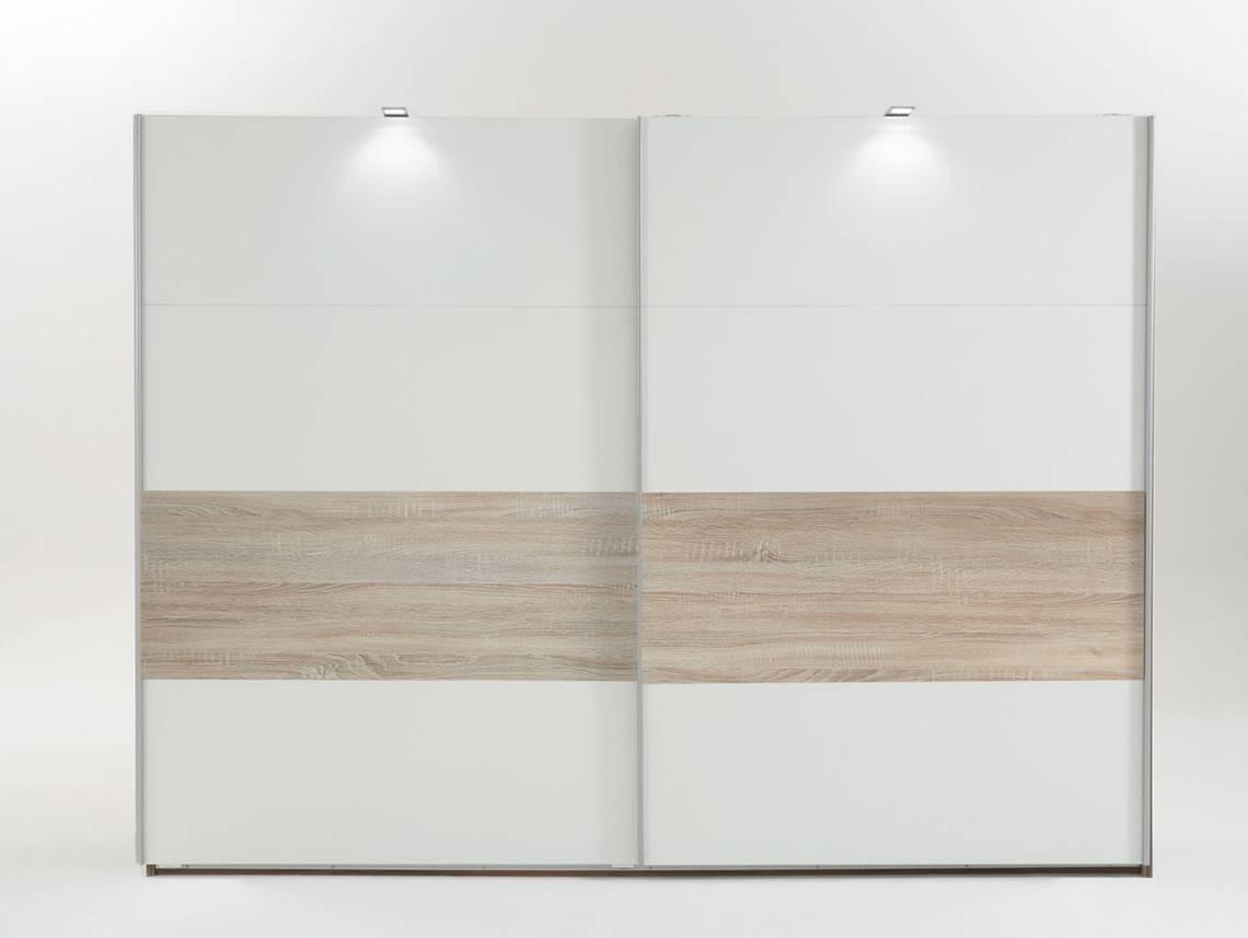 biggi schwebet renschrank 225 cm weiss eiche s gerau. Black Bedroom Furniture Sets. Home Design Ideas