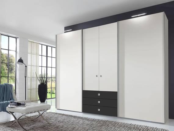 toledo kleiderschrank schwebe dreht renschrank weiss. Black Bedroom Furniture Sets. Home Design Ideas