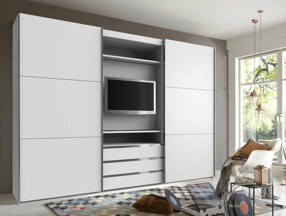 manchester tv schwebet renschrank 216 cm weiss. Black Bedroom Furniture Sets. Home Design Ideas