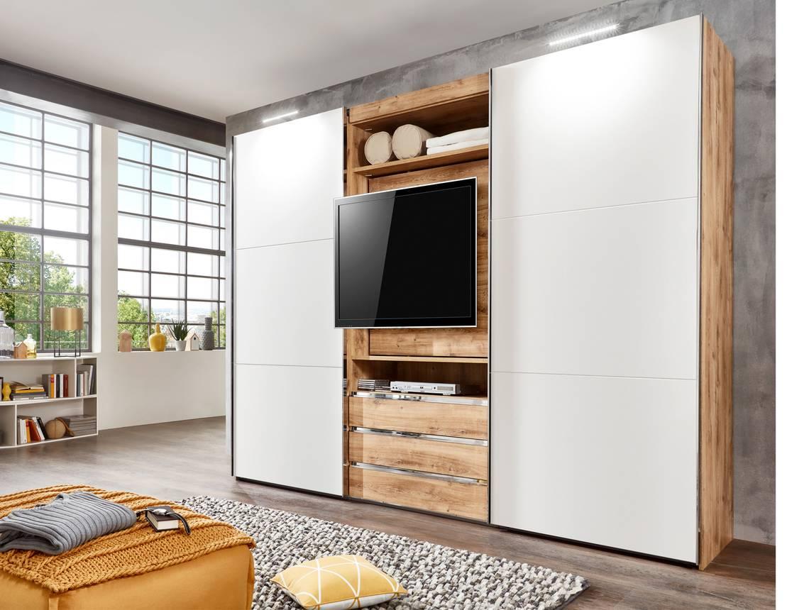 manchester tv schwebet renschrank 216 cm plankeneiche weiss. Black Bedroom Furniture Sets. Home Design Ideas