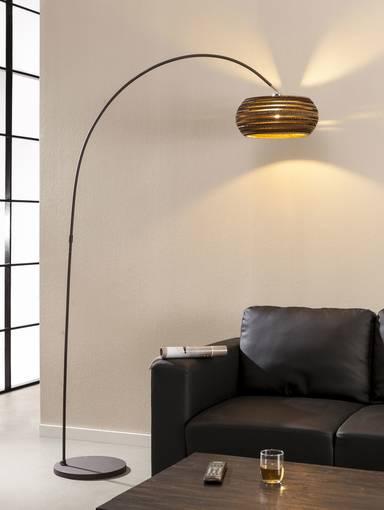 carta stehlampe bogenlampe braun. Black Bedroom Furniture Sets. Home Design Ideas