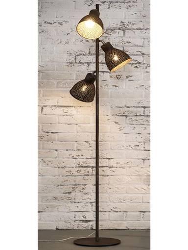 IRON Stehlampe mit 3 Lampen braun DETAIL_IMAGE