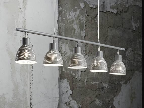 IRON Hängelampe mit 5 Lampen grau DETAIL_IMAGE