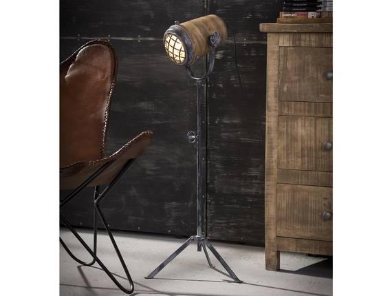 VALMIR Stehlampe Eisen/Mangoholz 78 - 96 cm DETAIL_IMAGE