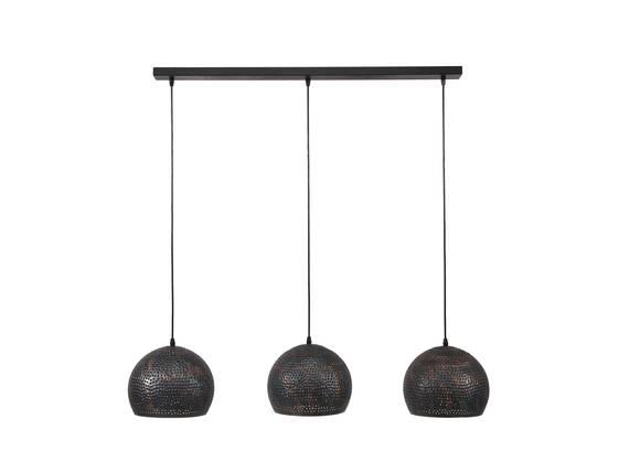 MALI Pendelleuchte mit 3 schwarz-braunen Schirmen  DETAIL_IMAGE