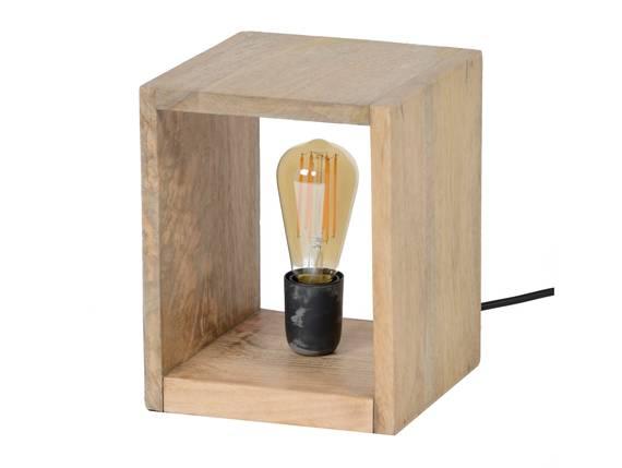 BERNAU Tischlampe klein aus Holzquader  DETAIL_IMAGE