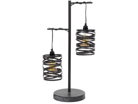 VINNY Tischlampe mit 2 Leuchten, Material Metall, schiefergrau  DETAIL_IMAGE