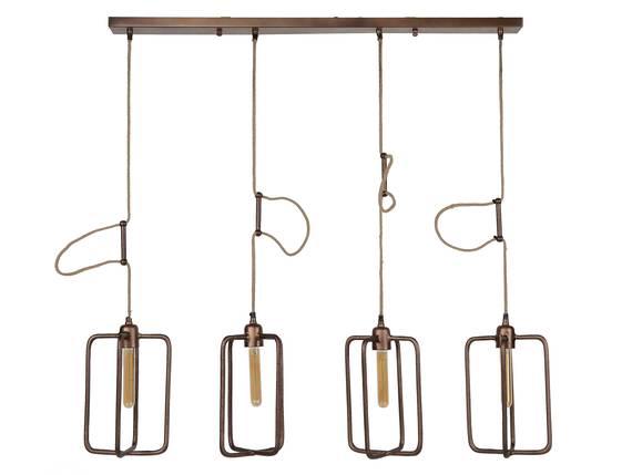 DAKORD II Pendelleuchte mit 4 Leuchten, Material Aluminium, kupferfarbig  DETAIL_IMAGE